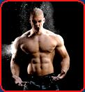 bodybuilder mischa janiec jeans dust powder blast