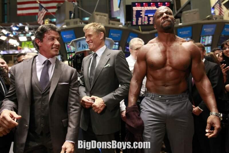 With fellow giant bodybuilder Daliph Singh and puny actor Adam Sandler    Terry Crews Boner