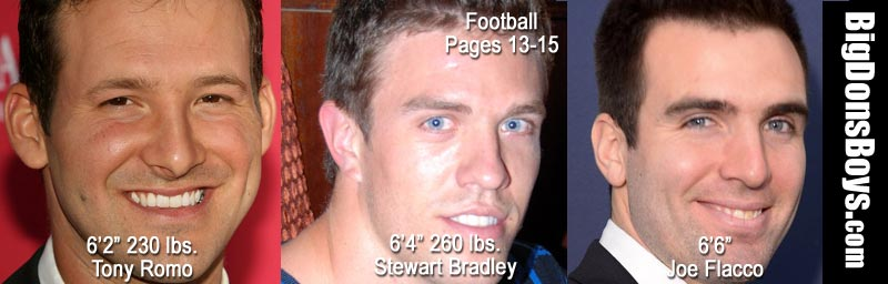 football players joe flacco tony romo stewart bradley headshots handsome