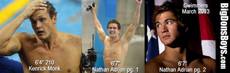 tall swimmers kenrick monk nathan adrian